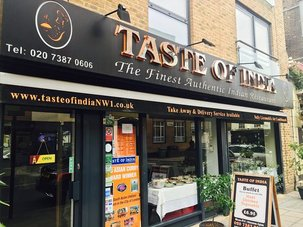 Restaurants Listing Directory Taste of India in Camden Town England
